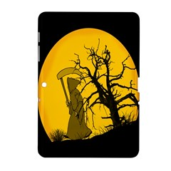 Death Haloween Background Card Samsung Galaxy Tab 2 (10.1 ) P5100 Hardshell Case