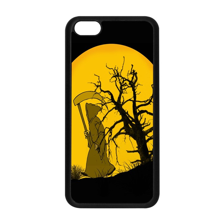 Death Haloween Background Card Apple iPhone 5C Seamless Case (Black)