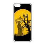 Death Haloween Background Card Apple iPhone 5C Seamless Case (White) Front