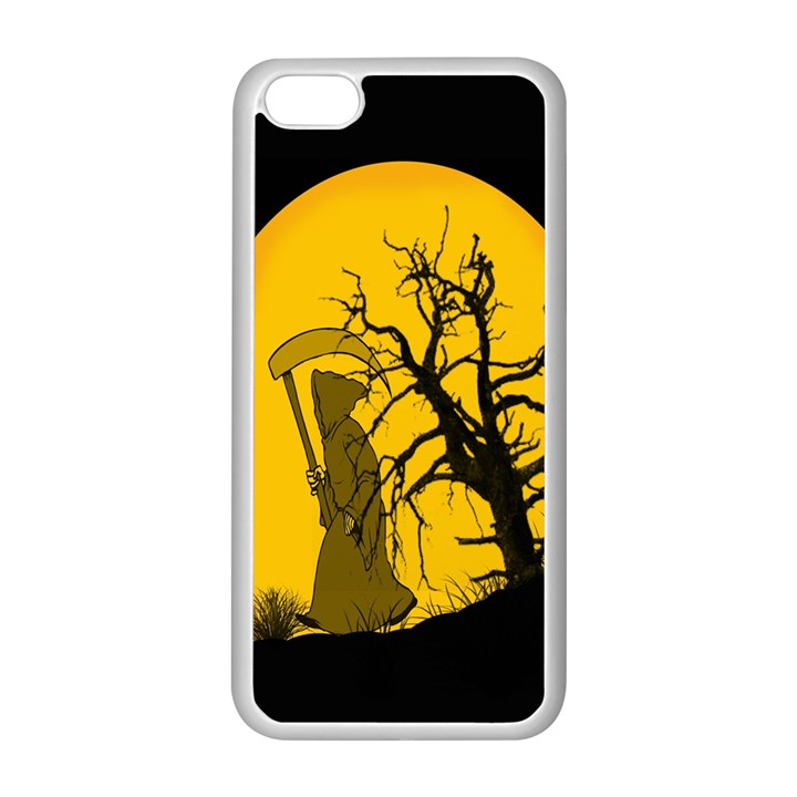 Death Haloween Background Card Apple iPhone 5C Seamless Case (White)
