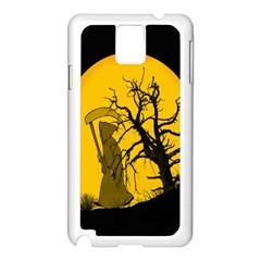 Death Haloween Background Card Samsung Galaxy Note 3 N9005 Case (White)