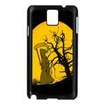 Death Haloween Background Card Samsung Galaxy Note 3 N9005 Case (Black) Front