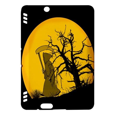 Death Haloween Background Card Kindle Fire HDX Hardshell Case