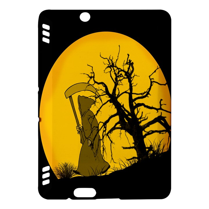 Death Haloween Background Card Kindle Fire HDX Hardshell Case