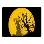 Death Haloween Background Card Double Sided Fleece Blanket (Small)  50 x40 Blanket Back