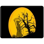 Death Haloween Background Card Double Sided Fleece Blanket (Large)  80 x60 Blanket Front