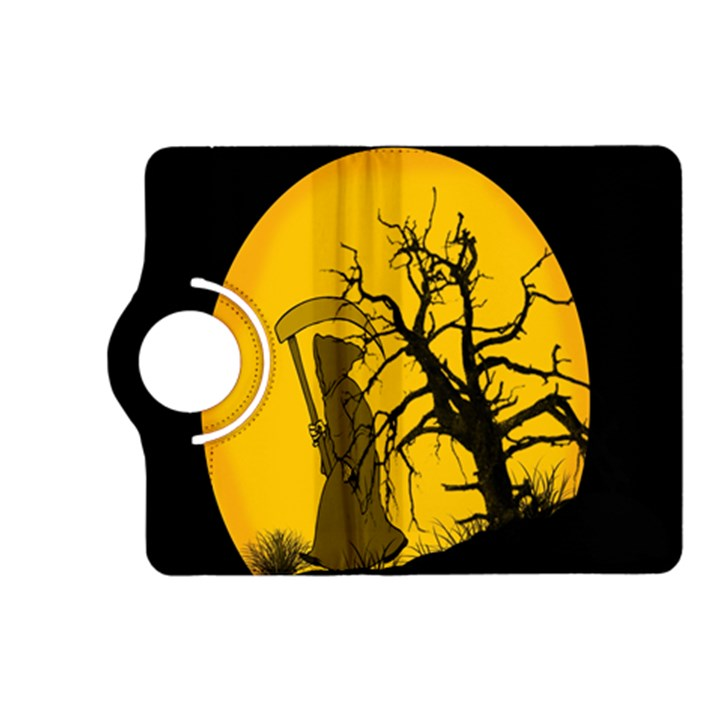 Death Haloween Background Card Kindle Fire HD (2013) Flip 360 Case