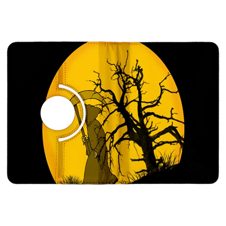 Death Haloween Background Card Kindle Fire HDX Flip 360 Case