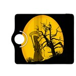 Death Haloween Background Card Kindle Fire HDX 8.9  Flip 360 Case Front