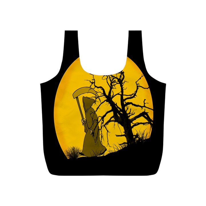 Death Haloween Background Card Full Print Recycle Bags (S)