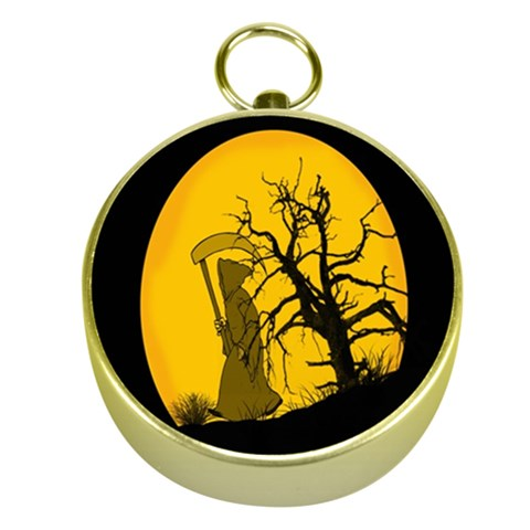 Death Haloween Background Card Gold Compasses