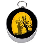 Death Haloween Background Card Silver Compasses Front