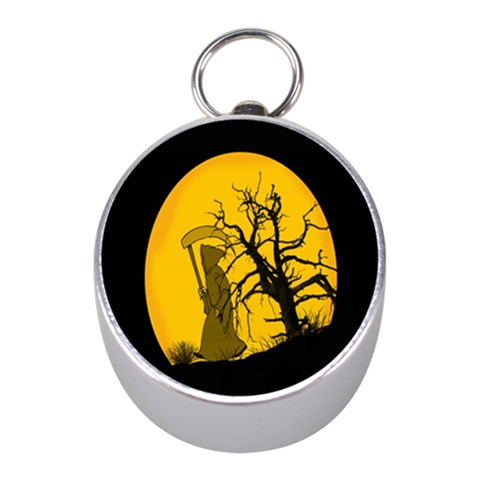 Death Haloween Background Card Mini Silver Compasses