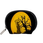 Death Haloween Background Card Accessory Pouches (Small)  Front