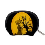 Death Haloween Background Card Accessory Pouches (Small)  Back