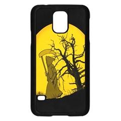Death Haloween Background Card Samsung Galaxy S5 Case (Black)
