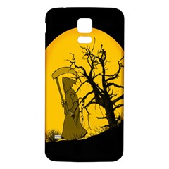 Death Haloween Background Card Samsung Galaxy S5 Back Case (White)