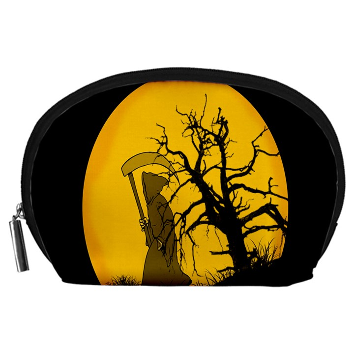 Death Haloween Background Card Accessory Pouches (Large)