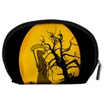 Death Haloween Background Card Accessory Pouches (Large)  Back