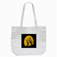 Death Haloween Background Card Tote Bag (White)