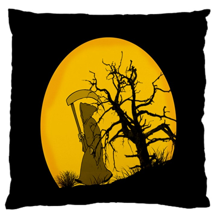 Death Haloween Background Card Large Flano Cushion Case (One Side)