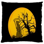 Death Haloween Background Card Large Flano Cushion Case (Two Sides) Back