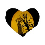 Death Haloween Background Card Standard 16  Premium Flano Heart Shape Cushions Front