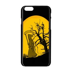 Death Haloween Background Card Apple iPhone 6/6S Black Enamel Case