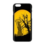 Death Haloween Background Card Apple iPhone 6/6S Black Enamel Case Front
