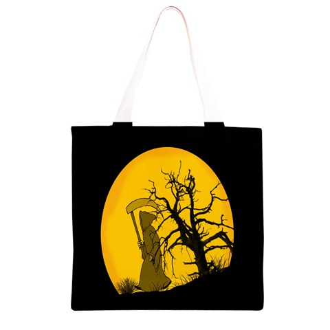 Death Haloween Background Card Grocery Light Tote Bag