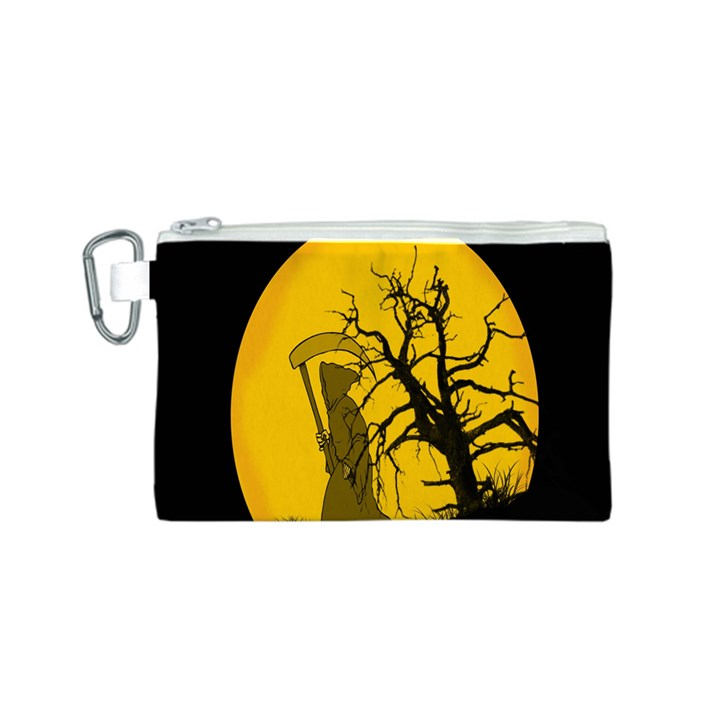 Death Haloween Background Card Canvas Cosmetic Bag (S)
