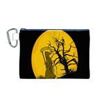 Death Haloween Background Card Canvas Cosmetic Bag (M) Front