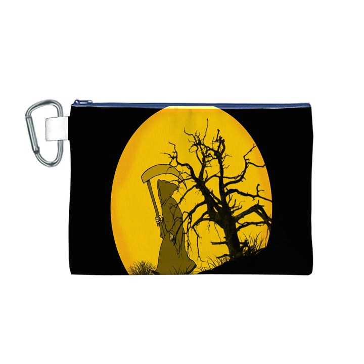 Death Haloween Background Card Canvas Cosmetic Bag (M)