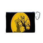 Death Haloween Background Card Canvas Cosmetic Bag (M) Back