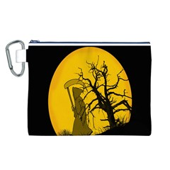 Death Haloween Background Card Canvas Cosmetic Bag (L)