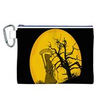 Death Haloween Background Card Canvas Cosmetic Bag (L) Front