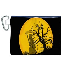 Death Haloween Background Card Canvas Cosmetic Bag (XL)