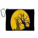 Death Haloween Background Card Canvas Cosmetic Bag (XL) Front