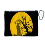 Death Haloween Background Card Canvas Cosmetic Bag (XL) Back