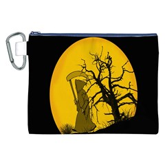 Death Haloween Background Card Canvas Cosmetic Bag (XXL)