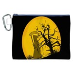 Death Haloween Background Card Canvas Cosmetic Bag (XXL) Front