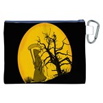 Death Haloween Background Card Canvas Cosmetic Bag (XXL) Back