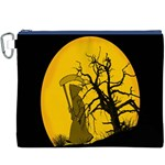 Death Haloween Background Card Canvas Cosmetic Bag (XXXL) Front