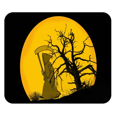 Death Haloween Background Card Double Sided Flano Blanket (Small)