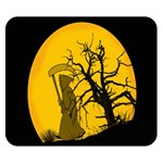 Death Haloween Background Card Double Sided Flano Blanket (Small)  50 x40 Blanket Back