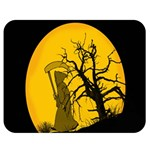 Death Haloween Background Card Double Sided Flano Blanket (Medium)  60 x50 Blanket Front