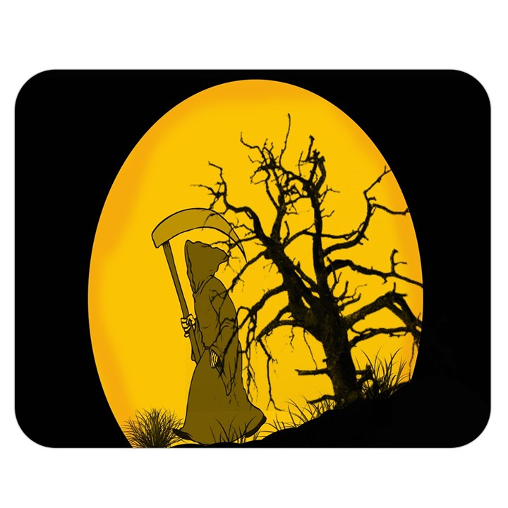 Death Haloween Background Card Double Sided Flano Blanket (Medium)
