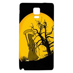 Death Haloween Background Card Galaxy Note 4 Back Case