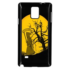 Death Haloween Background Card Samsung Galaxy Note 4 Case (Black)