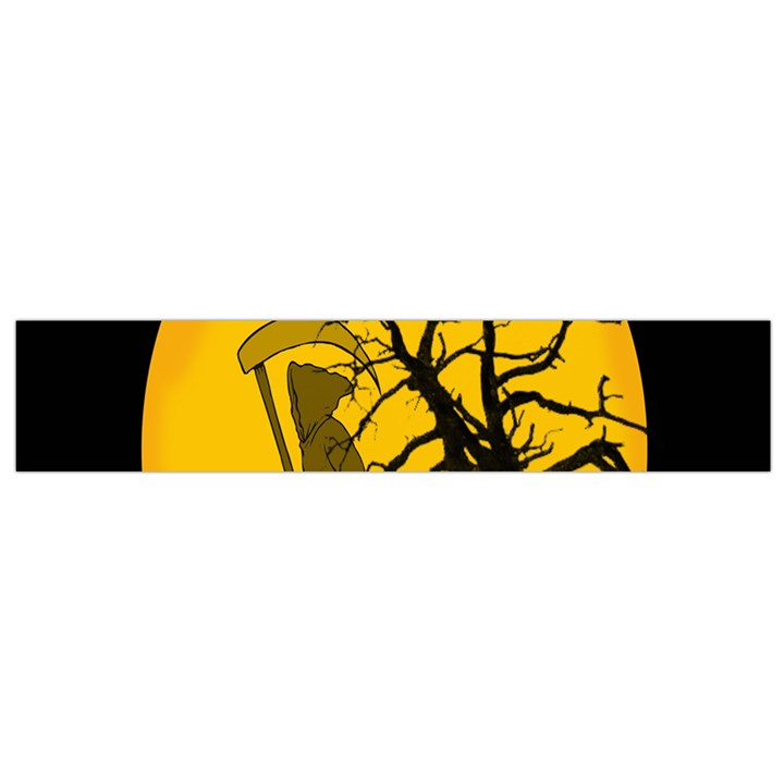 Death Haloween Background Card Flano Scarf (Small)